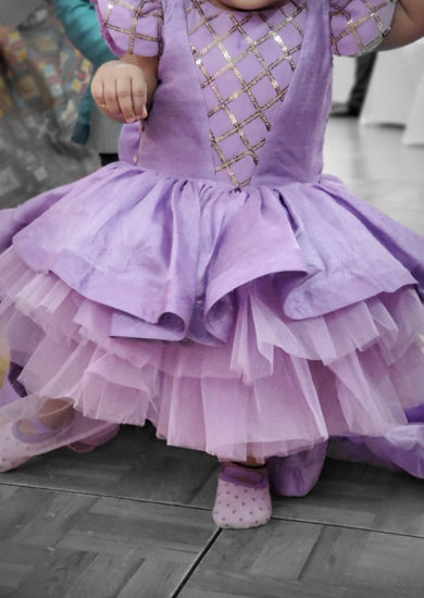 Picture of Lavender princess gown 1-3Y