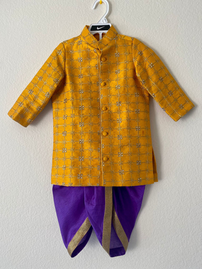 Picture of Kurta and dhothi set 2-3y